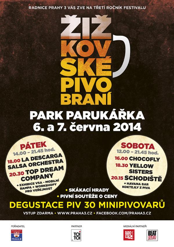 Plakát Žižkovské pivobraní 2014