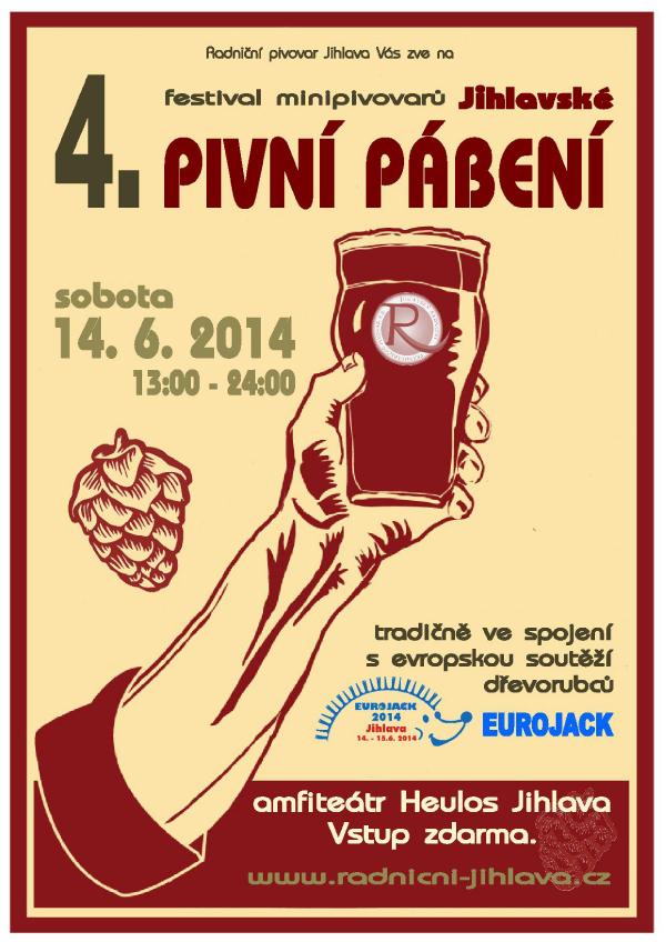 Jihlavské pivní pábení plakát