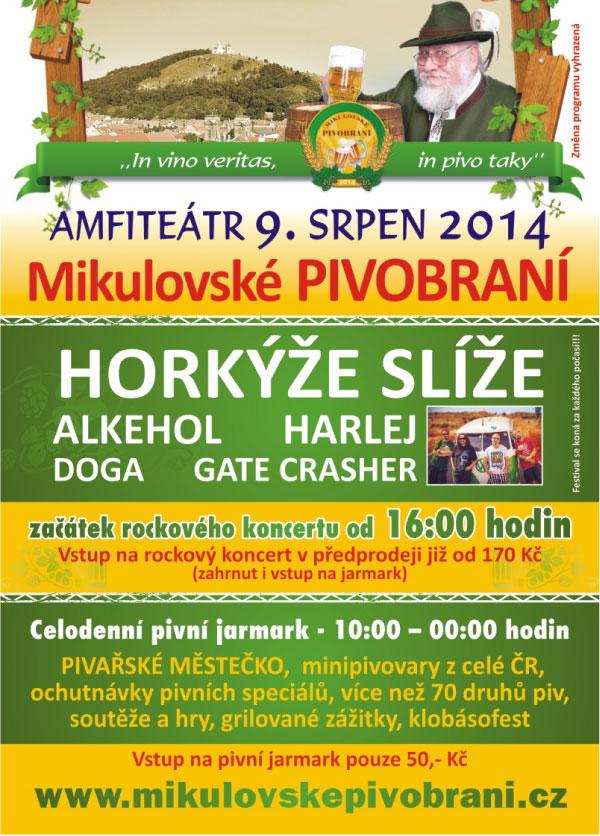 plakát Mikulovské pivobraní