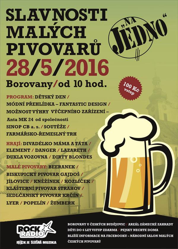 Plakát Borovany 2016